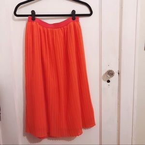 Anthropologie A New Day Pleated Midi Skirt